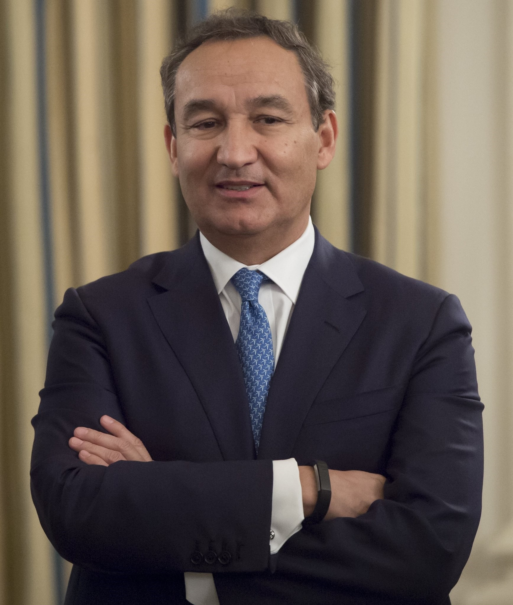 This file photo taken on February 9, 2017 shows Oscar Munoz, President and CEO of United Airlines. (AFP Photo)