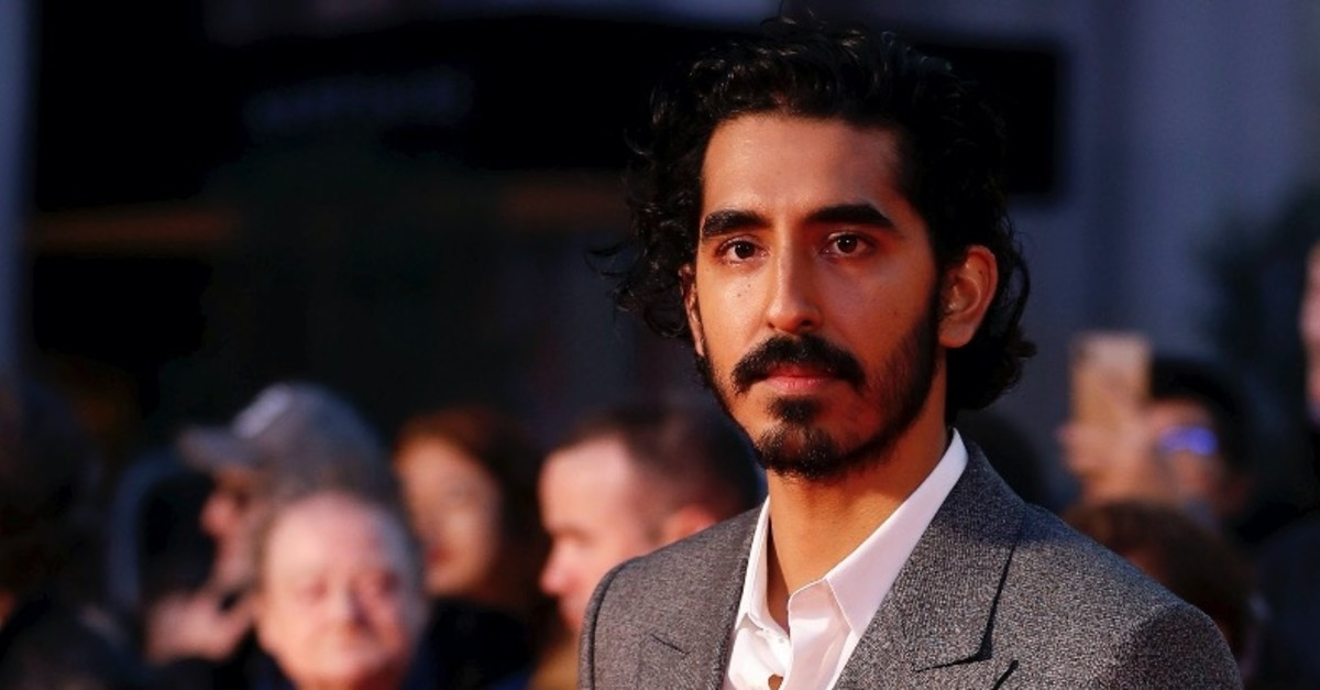 Actor Dev Patel poses at the premiere of the film in the BFI London Film Festival.