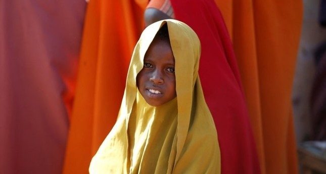 A Somali girl is seen at a internally displaced camp in the northern Somali town of Dollow, Somalia, February 25, 2018. (Reuters Photo)