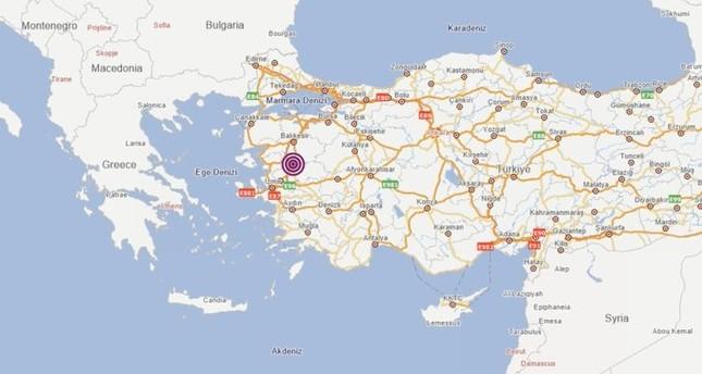 زلزال بقوة 5,2 ريختر يضرب ولاية مانيسا غربي تركيا