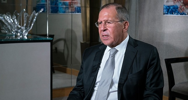 Russian Foreign Minister Sergey Lavrov answers questions during an interview in New York, Monday, Sept. 19, 2017. (AP Photo)