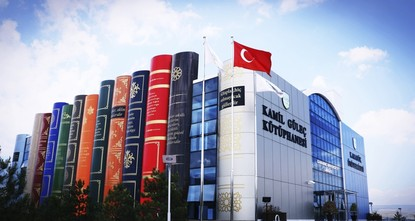 Visitors throng to unique library in Turkey