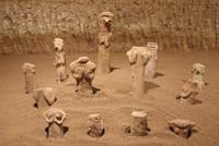 Ancient religious figurines displayed in underground Cappadocia museum