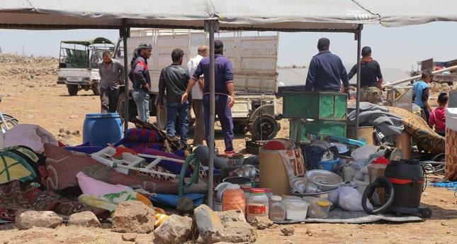 نزوح 45 ألف شخص جراء التصعيد العسكري في جنوب سوريا