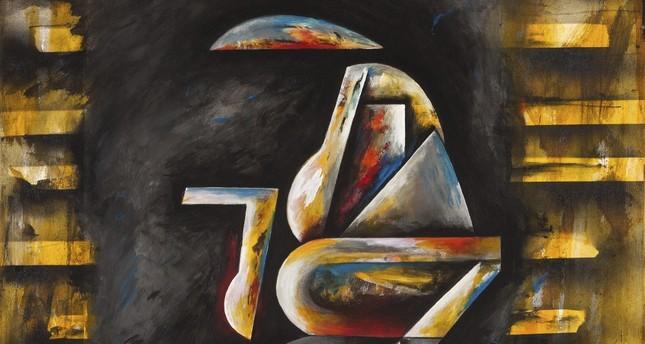 "Erol Kınalı, ""Shattered,"" acrylic on canvas, 2016, 100x100 cm."