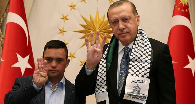 Erdoğan, detained Palestinian boy with Down syndrome show Jerusalem 'red line' for Muslims