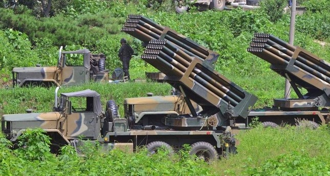 South Korean army's multiple launch rocket system (MLRS). (File Photo)
