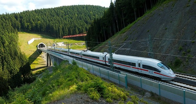 An Intercity Express ICE train of Deutsche Bahn AG is pictured on the new new rail line connecting Berlin and Munich in Goldinsthal near Erfurt, Germany June 14, 2017 (Reuters Photo)