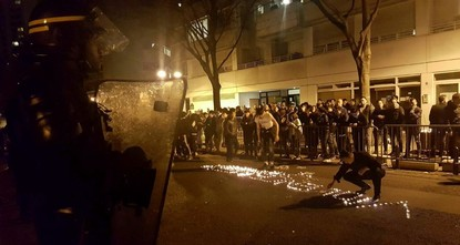 Violent clashes in Paris between baton-wielding police and protesters outraged at the police killing of a dual French-Chinese citizen in his home have seen three police officers injured and 35...