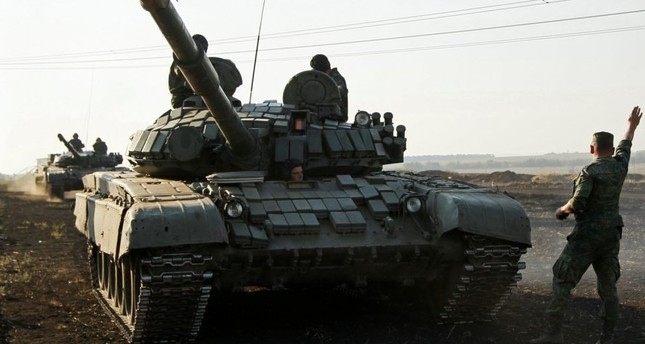 A Russian-made T-72 battle tank similar to the one destroyed Saturday. (REUTERS Photo)