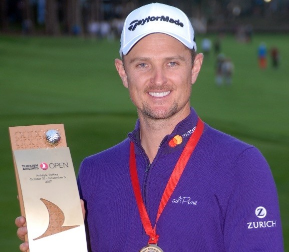 Justin Rose was crowned the 2017 Turkish Airlines Open champion with a final round of 65.