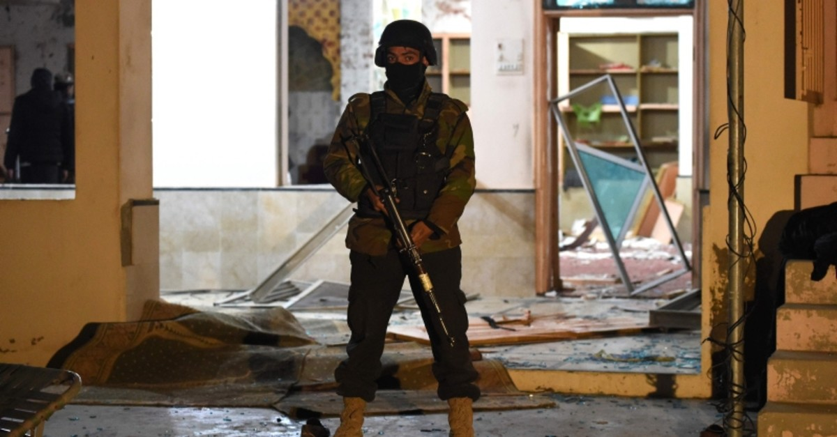 A soldier stands guard at the premises of a mosque after a bomb blast in Quetta, Pakistan, Jan. 10, 2020. (AFP Photo)