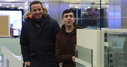 pThe Palestinian boy, whose photo of being dragged away blindfolded by dozens of Israeli soldiers has gone viral, arrived in Istanbul on Tuesday./p
