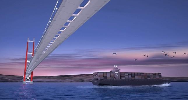 صورة تخيلية لجسر جناق قلعة كما سيبدو بعد إنجازه