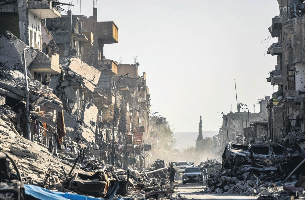 Heavily damaged buildings in Raqqa, Syria, Oct. 20, 2017.