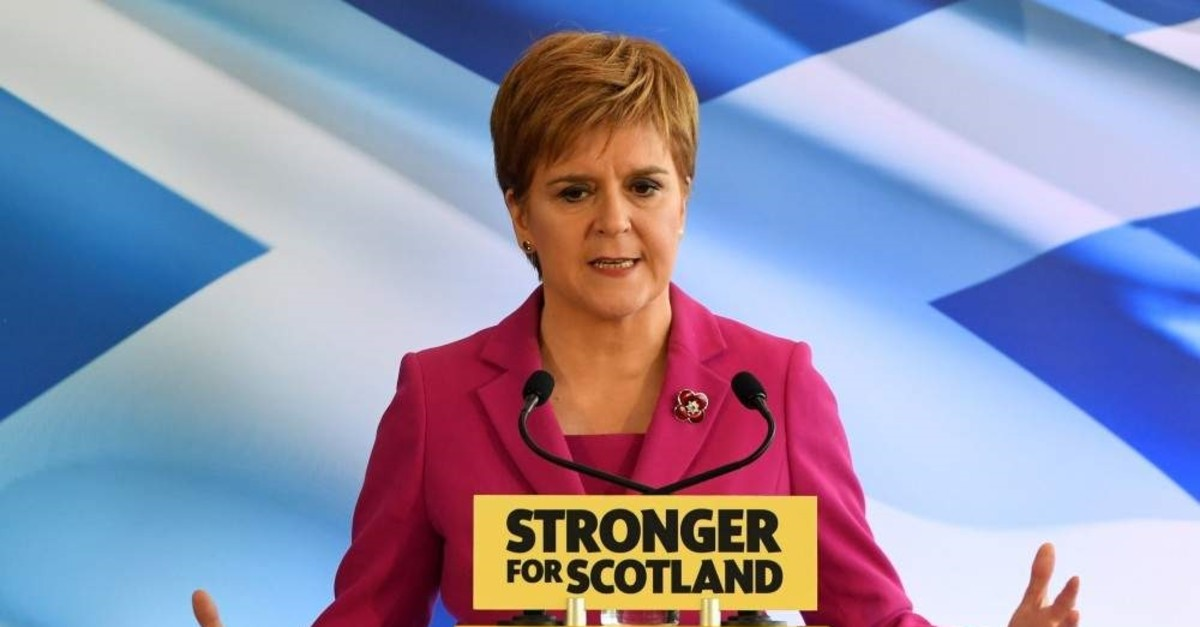 Scottish Nationalist Party (SNP) leader, and Scotland's first minister, Nicola Sturgeon, launches the party's general election campaign, Edinburgh, Nov. 8, 2019. (AFP Photo)