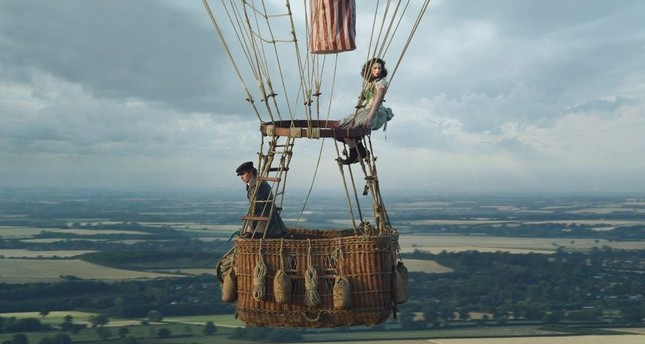 This image shows Eddie Redmayne left and Felicity Jones in The Aeronauts.  AP Photo