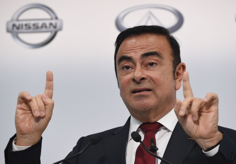 This file photo taken on May 13, 2015 shows Nissan Motors Chairman and CEO Carlos Ghosn speaking during the company's financial results press conference in Yokohama. (AFP Photo)
