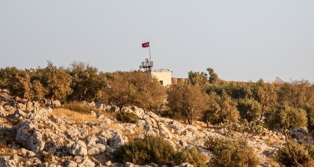 This file photo dated September 21, 2018 shows the 12th Turkish observation point in Zeytinlik, in Idlib province, northwestern Syria. Photo: Sabah / Uğur Yıldırım