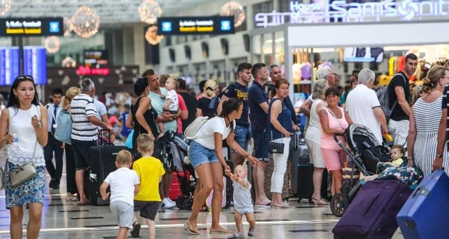 Antalya had welcomed some 13.6 million tourists in 2018. (DHA Photo)