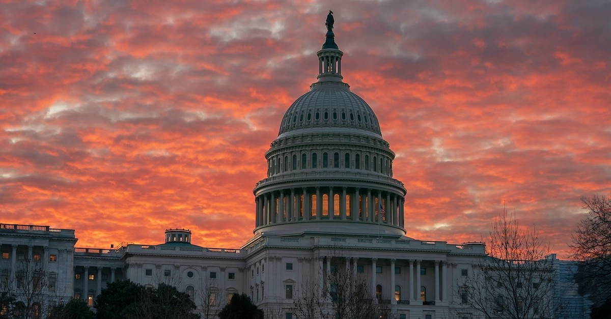The Capitol is seen at dawn as Congress returns to work in Washington, March 5, 2019.