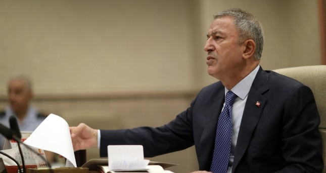 Defense Minister Hulusi Akar holds meeting with military command on Thursday, July 25, 2019 (AA Photo)