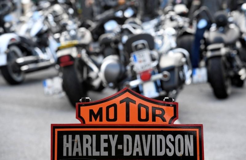 Harley-Davidson bikes are seen at the ,Hamburg Harley-Days, in Hamburg, Germany, June 22, 2018. (Reuters Photo)