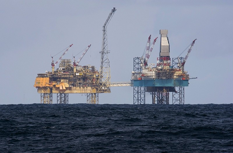 This April 2, 2012 file photoshows the Elgin rig, 150 miles (240 kms) from Aberdeen in the North Sea of which energy giant Royal Dutch Shell is a shareholder. (AFP Photo)
