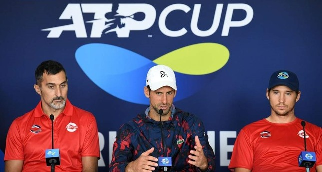 Novak Djokovic C attend a press conference ahead of the ATP Cup tennis tournament, Brisbane, Jan. 2, 2020. AFP Photo