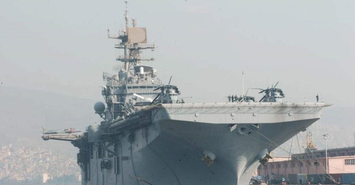 This Nov. 20, 2009, file photo, shows USS Bataan anchored in a port in Izmir. (THA Photo)