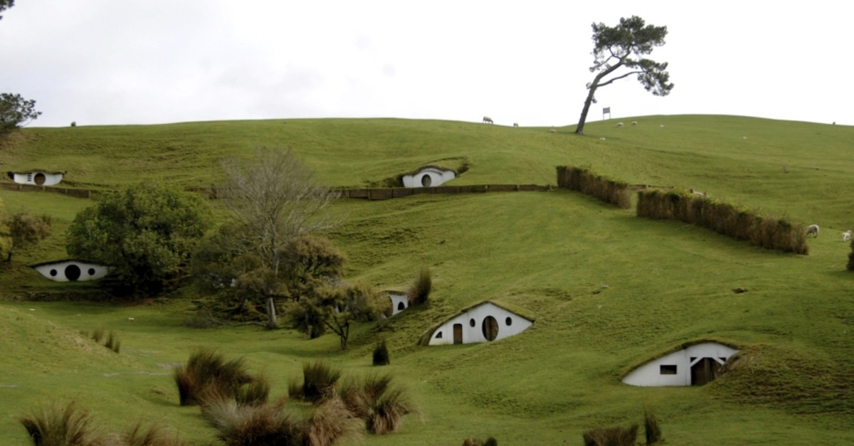 The remains of the Hobbiton movie set from the film ,The Lord of the Rings, at the town of Matamata in the North Island of New Zealand, September 2007.