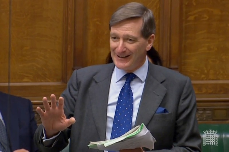 A video grab from footage broadcast by the Parliamentary Recording Unit (PRU) shows former attorney general Dominic Grieve  in the House of Commons in London on June 12, 2018. (AFP Photo)