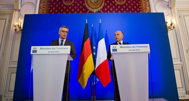 The French and German interior ministers said Tuesday they're pushing for a Europe-wide policy limiting encryption, and want it discussed at an EU summit in Slovakia next month.emAP Photo/em