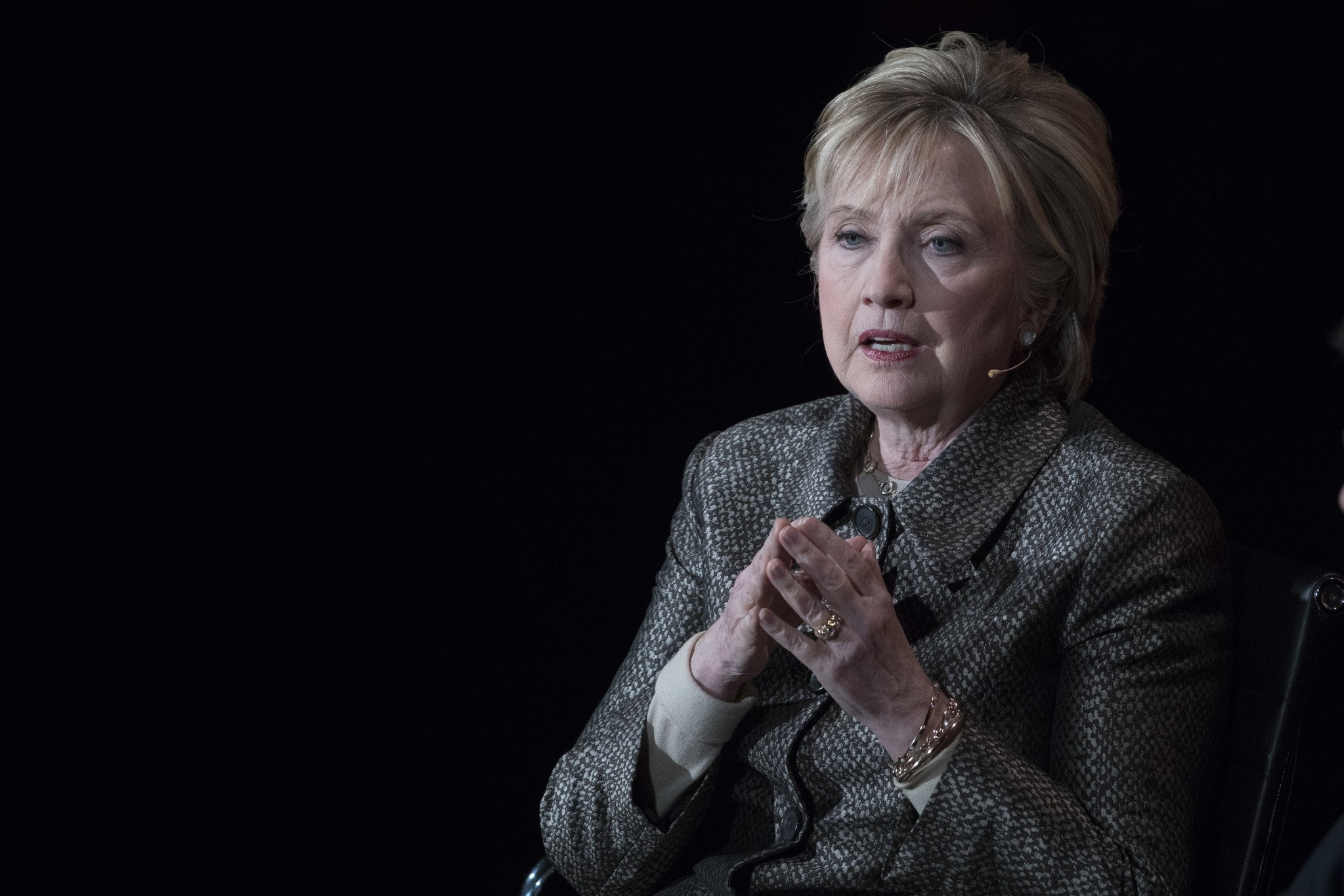 In this photo taken April 6, 2017, former Secretary of State Hillary Clinton speaks in New York. (AP Photo)