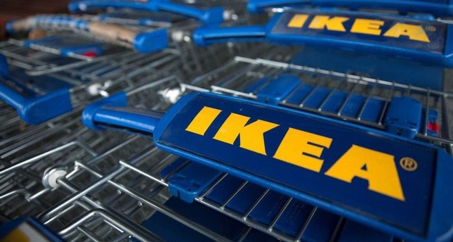 Trollies are seen outside an IKEA store in Wembley, north London, January 28, 2015. Reuters Photo