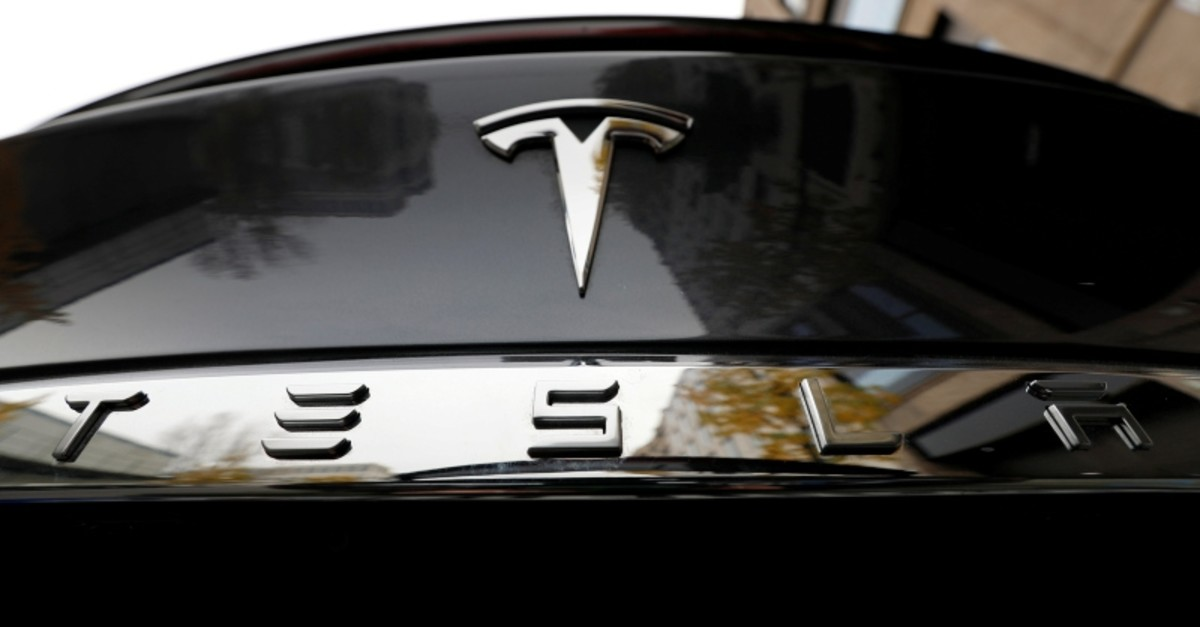 The company logo is pictured on a Tesla Model X electric car in Berlin, Germany, November 13, 2019. (Reuters Photo)