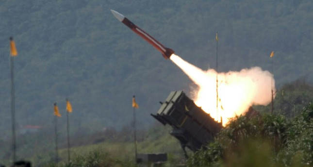 In this July 20, 2006 photo, a U.S.-made Patriot missile is launched during the annual Han Kuang No. 22 exercises in Ilan County, 80 kilometers (49 miles) west of Taipei, Taiwan. (AP Photo)