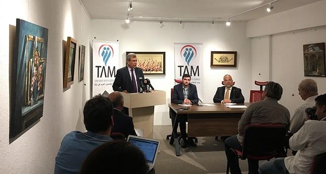 السفير اليمني عبد الله السعدي في ندوة بمدينة إسطنبول (ديلي صباح)