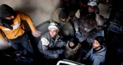 pRescue workers from Syria's White Helmets - the subjects of an Oscar-nominated documentary - said on Saturday they have received U.S. visas to attend next week's prestigious Academy Awards...