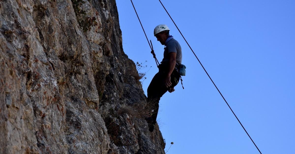 A mountaineer trains on the hills of Hakkari, one of Turkeyu2019s most mountainous regions.