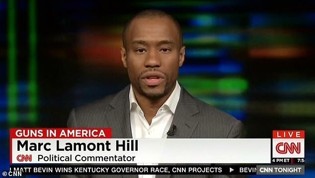 Professor Marc Lamont Hill, a Temple University professor and a commentator for CNN, delivers a speech on a live CNN program.