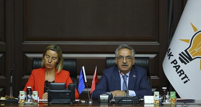 الوفد الأوروبي يزور البرلمان ومقر العدالة والتنمية للوقوف على المحاولة الانقلابية