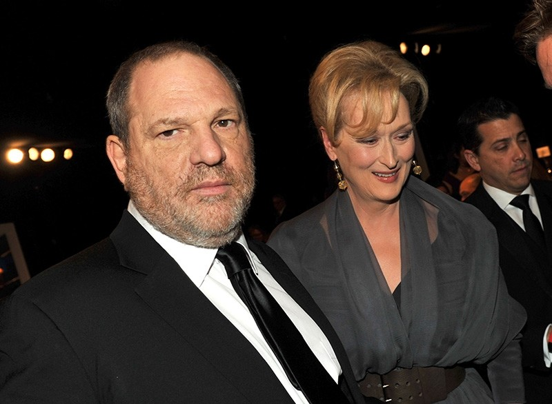This file photo taken on January 28, 2012 shows producer Harvey Weinstein and actress Meryl Streep attending the 18th Annual Screen Actors Guild Awards at The Shrine Auditorium on January 29, 2012 in Los Angeles, California. (AFP Photo)