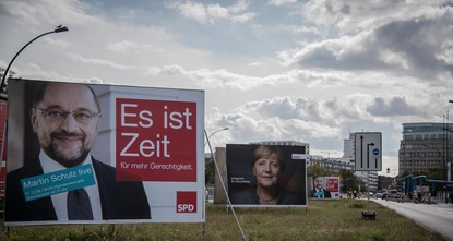 pWhen German Chancellor Angela Merkel of the Christian Democratic Union (CDU) and Social Democratic Party (SPD) Chairman Martin Schulz appeared on the screens of millions of German voters on Sept....