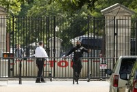 The White House is on lockdown after a passenger vehicle struck a security barrier.