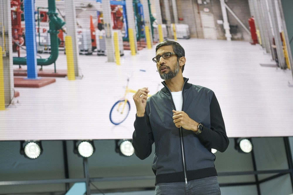 Google CEO Sundar Pichai talking about the new features of Google at the I/O 2017 developer conference.