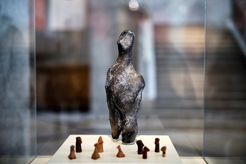 A 7000-year old Neolithic statuette is temporarily displayed at the National Archaeological Museum in Athens, Greece, February 10, 2017. (Reuters Photo)