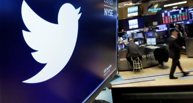In this Feb. 8, 2018, file photo, the logo for Twitter is displayed above a trading post on the floor of the New York Stock Exchange. AP Photo