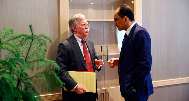 Turkey's Kalın, US Security Adviser Bolton discuss Syria safe zone, bilateral trade