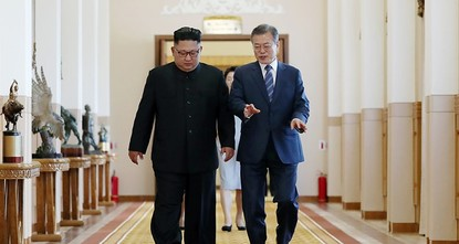 Kim vows to dismantle nuke site in deals with SKorea